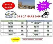 Pour les amateurs du Tournoi d' Aulnat et Ceyrat le 26 et 27 avril 2016